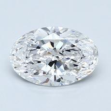 1.20 Carat 椭圆形 Diamond 非常好 D VS2