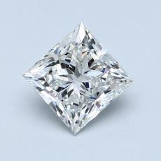 推荐宝石 2:1.00 克拉公主方形钻石