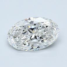1,01 Carat Ovale Diamond Très bonne F VS1