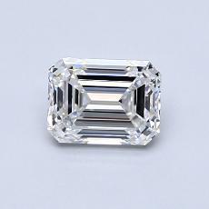 0.73-Carat Emerald Diamond Very Good E VS1