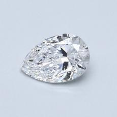 0.54-Carat Pear Diamond Very Good D VVS1