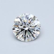 0.70-Carat Round Diamond Ideal F VVS1