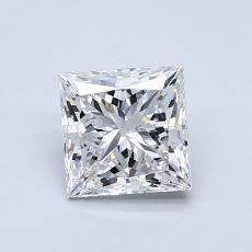 所選擇的鑽石: 1.00  克拉公主方形鑽石
