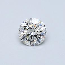 0.40-Carat Round Diamond Ideal H SI1
