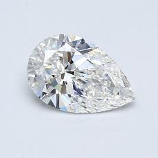 推荐宝石 1:0.63 克拉梨形切割钻石