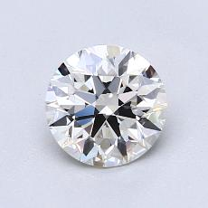 1.00-Carat Round Diamond Ideal H VVS1