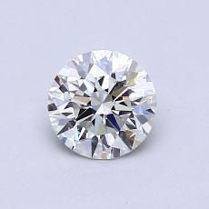 0.70 Carat 圆形 Diamond 理想 H VVS1
