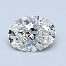 1.00-Carat Oval Diamond Very Good H VVS1