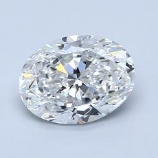 1.20-Carat Oval Diamond Very Good F VVS1