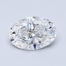 1.00-Carat Oval Diamond Very Good D VVS1