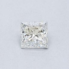0,34 Carat Princesse Diamond Très bonne E SI1