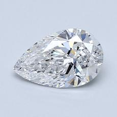 1,00-Carat Pear Diamond Very Good D SI1