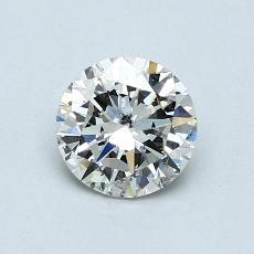 0.70-Carat Round Diamond Very Good I SI2