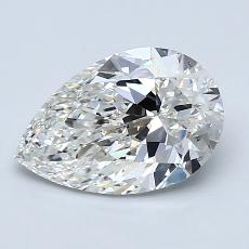 1.70-Carat Pear Diamond Very Good H VS2