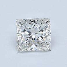 1.00-Carat Princess Diamond Very Good G VVS2