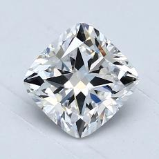 1.03-Carat Cushion Diamond Very Good E VVS2