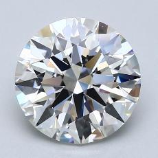 3,04-Carat Round Diamond Ideal G VVS1