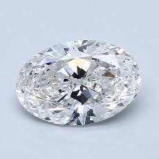 1.20 Carat 橢圓形 Diamond 非常好 G VS2