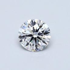 0.50 Carat 圆形 Diamond 理想 E VS1