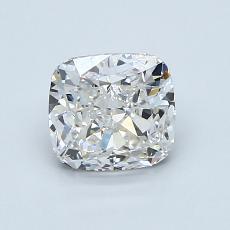 Pierre recommandée n°1: Diamant Taille coussin de 1,23carat