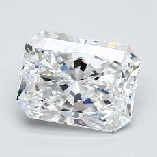 Pierre recommandée n°2: Diamant Taille radiant de 1,30carat
