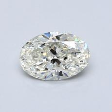 推荐宝石 1:0.59克拉椭圆形切割钻石