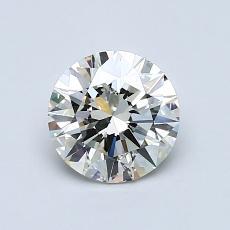 0,90-Carat Round Diamond Ideal K SI2