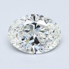 0.80-Carat Oval Diamond Very Good F VVS2