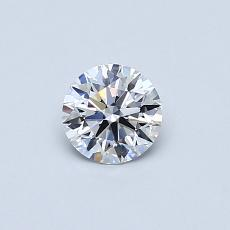 0.41-Carat Round Diamond Ideal D VVS2