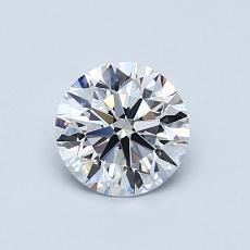 0.77-Carat Round Diamond Ideal D VVS2