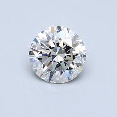 0.60 Carat 圆形 Diamond 理想 I VVS2