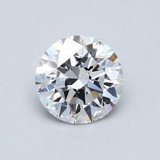 0.81 Carat 圆形 Diamond 理想 E VVS2