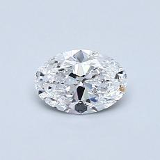 0.50 Carat 椭圆形 Diamond 非常好 D IF