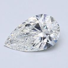 1.01-Carat Pear Diamond Very Good F VS2