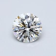 0.75-Carat Round Diamond Ideal H VS1