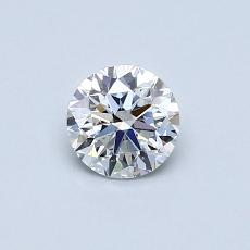 0.50-Carat Round Diamond Very Good E VVS2