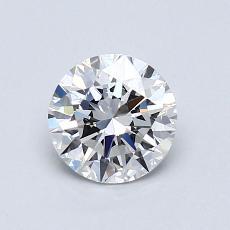 0.81-Carat Round Diamond Ideal F VVS2