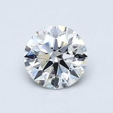 0.81-Carat Round Diamond Ideal D VS1