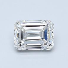 Piedra recomendada 3: Diamante de talla esmeralda de 1.00 quilates