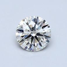 0.74 Carat 圆形 Diamond 理想 J VVS1