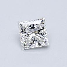 0.53 Carat 公主方形 Diamond 非常好 F VVS2