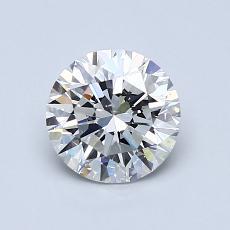 目标宝石:1.00克拉圆形切割钻石