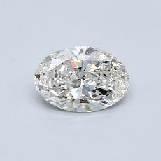 0.50 Carat 橢圓形 Diamond 非常好 I VS2