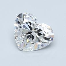 1.04-Carat Heart Diamond Very Good D VVS1