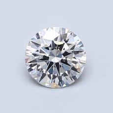 0.76 Carat 圓形 Diamond 理想 E SI1