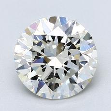 2.01 Carat 圆形 Diamond 理想 J VVS2