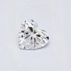 0,30 Carat Coeur Diamond Très bonne F VS1