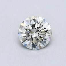 0.50 Carat 圓形 Diamond 理想 K VVS2