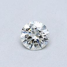 推荐宝石 1:0.30克拉圆形切割钻石