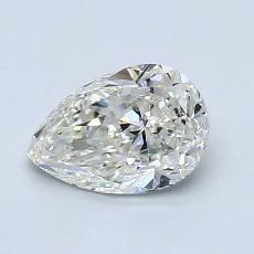 1.00-Carat Pear Diamond Very Good J SI1